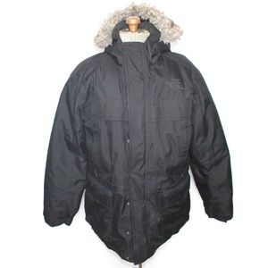 Men's North Face Black Winter Parka Coat Large